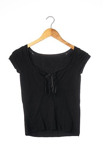 T-shirt manches courtes noir SANS MARQUE pour femme