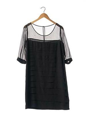 Robe mi-longue noir APOSTROPHE pour femme