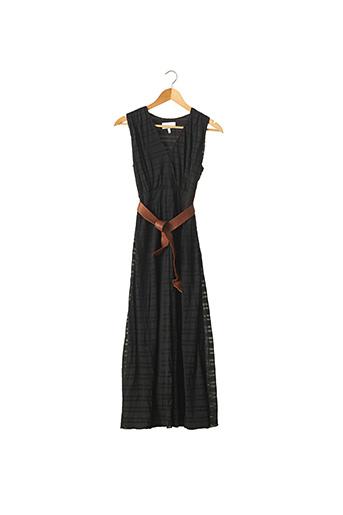 Robe mi-longue noir ADAM pour femme