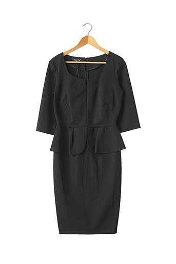 Robe mi-longue noir BAIN DE NUIT pour femme