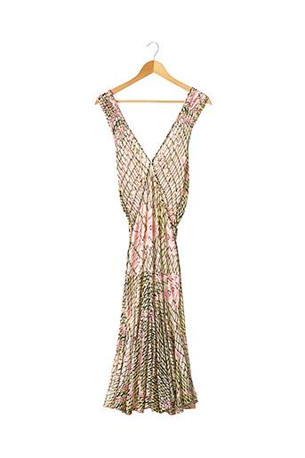 Robe mi-longue rose CAVALLI pour femme