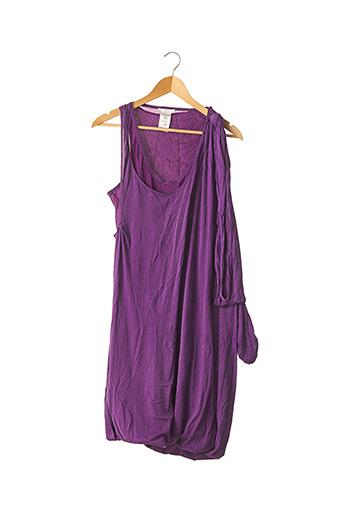 Robe mi-longue violet CHLOE pour femme