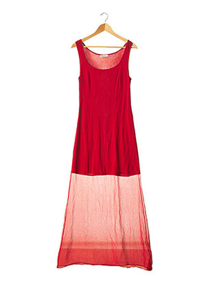 Robe longue rouge CAPUCINE PUERARI pour femme