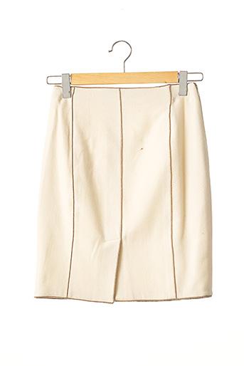Jupe courte beige PAULE KA pour femme