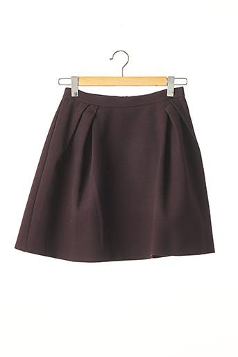 Jupe courte violet DICE KAYEK pour femme