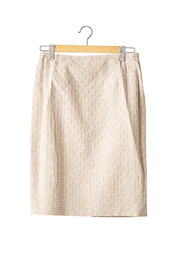 Jupe mi-longue beige FERAUD pour femme