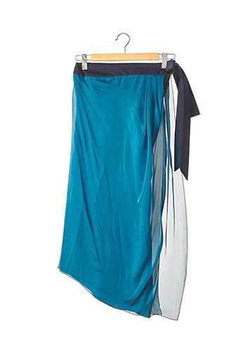 Jupe mi-longue bleu AZZARO pour femme