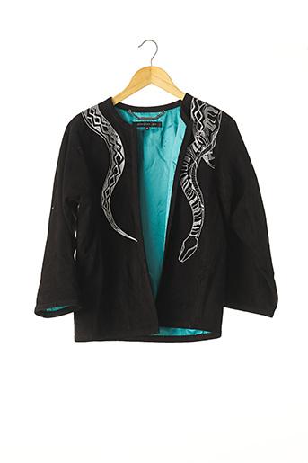 Veste en cuir noir BARBARA BUI pour femme