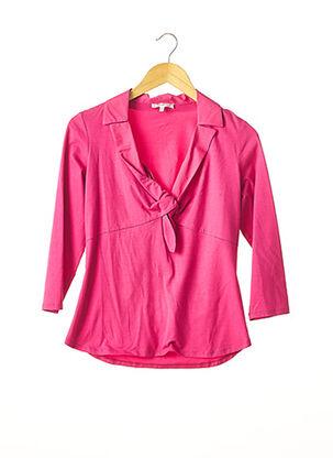 T-shirt manches longues rose PAULE KA pour femme