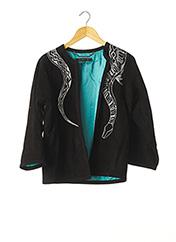 Veste en cuir noir BARBARA BUI pour femme seconde vue