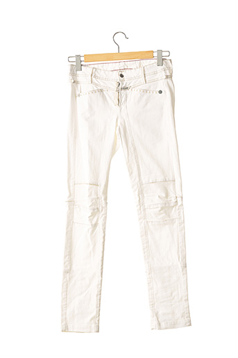 Jeans coupe slim beige MARITHE & FRANCOIS GIRBAUD pour femme