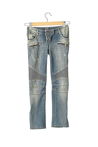 Pantalon 7/8 bleu BALMAIN pour femme