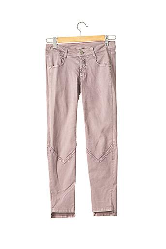 Pantalon 7/8 violet MARITHE & FRANCOIS GIRBAUD pour femme