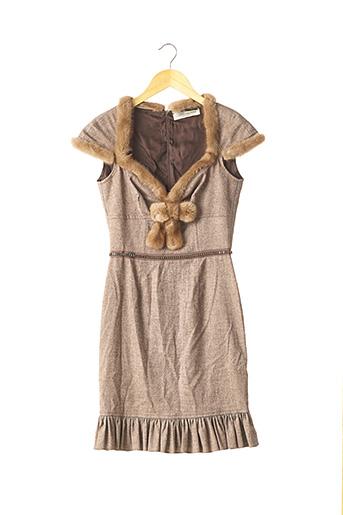 Robe mi-longue marron BLUMARINE pour femme