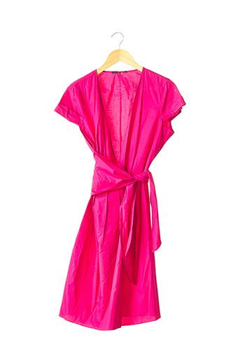 Robe mi-longue rose HUGO BOSS pour femme