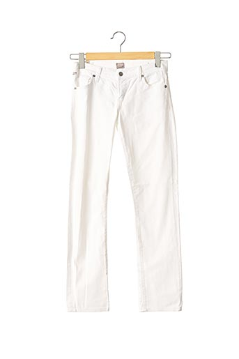 Jeans coupe droite blanc CITIZENS OF HUMANITY pour femme