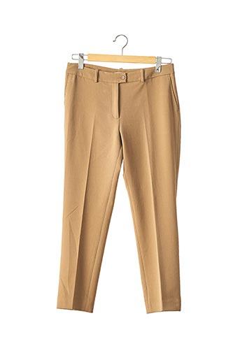 Pantalon 7/8 marron DEVERNOIS pour femme