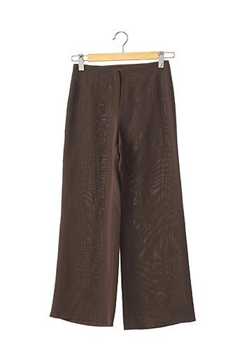 Pantalon 7/8 marron MAUD DEFOSSEZ pour femme