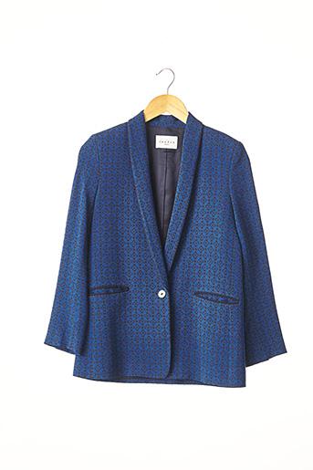 Veste chic / Blazer bleu SANDRO pour femme