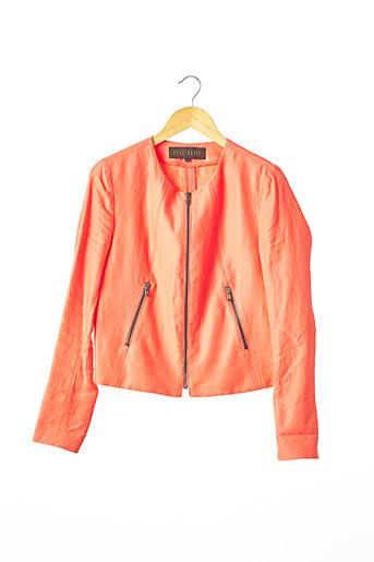 Veste chic / Blazer orange APOSTROPHE pour femme