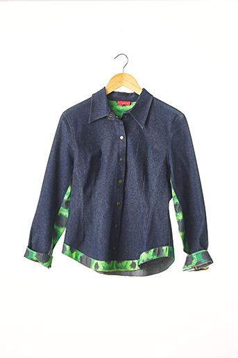 Veste en jean bleu CHACOK pour femme