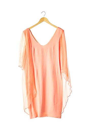 Robe mi-longue orange CATHERINE VARNIER pour femme
