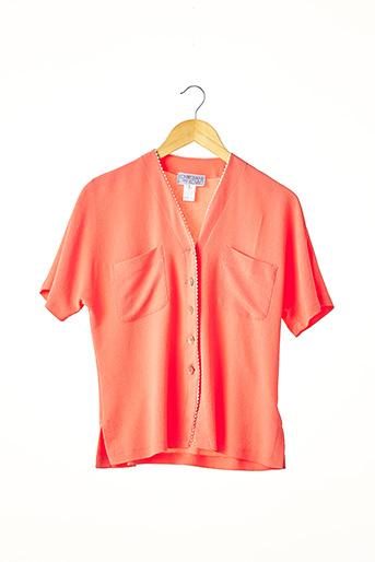 Chemisier manches courtes orange CHRISTIANE KOVITZ pour femme
