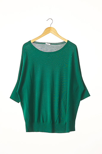Pull col rond vert A-K-R-I-S pour femme