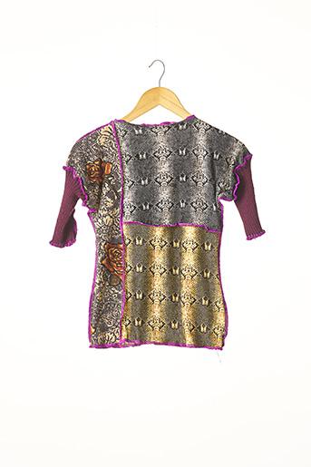 T-shirt manches courtes violet ALEXIS THOMAS pour femme