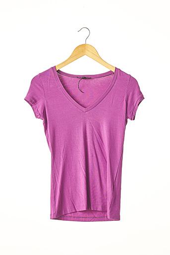 T-shirt manches courtes violet APOSTROPHE pour femme