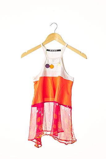 Top orange DIRK BIKKEMBERGS pour femme