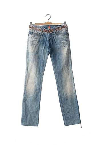 Jeans coupe droite bleu HUGO BOSS pour femme