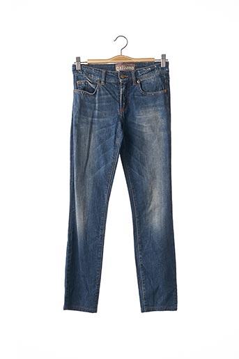 Jeans coupe slim bleu GALLIANO pour femme