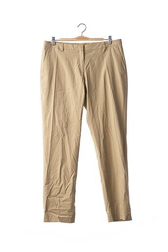 Pantalon casual beige DRIES VAN NOTEN pour femme