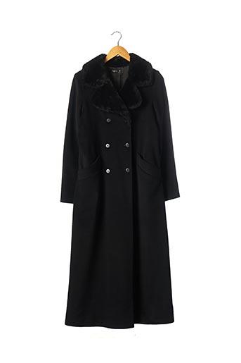 Manteau long noir AGNES B pour femme
