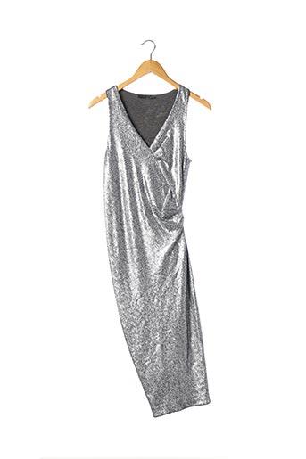 Robe mi-longue gris DONNA KARAN pour femme