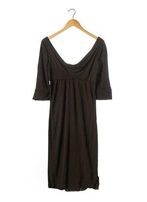 Robe mi-longue marron DIANE VON FURSTENBERG pour femme