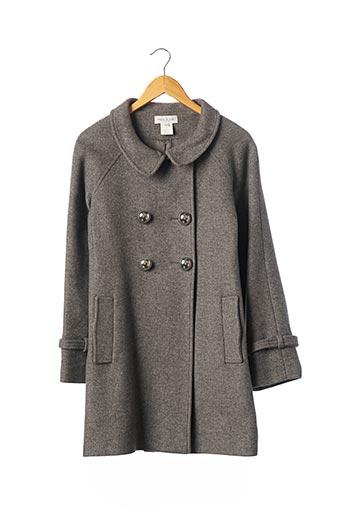 Manteau long gris PAUL & JOE pour femme