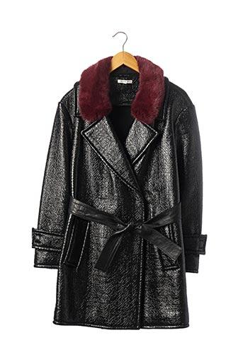 Manteau long noir PAULE KA pour femme