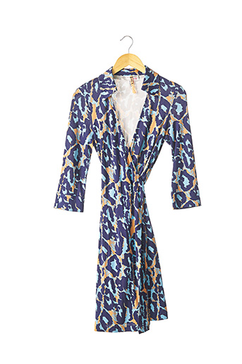 Robe mi-longue bleu DIANE VON FURSTENBERG pour femme