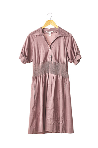 Robe mi-longue rose DIANE VON FURSTENBERG pour femme