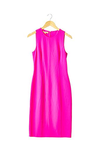 Robe mi-longue rose MICHAEL KORS pour femme