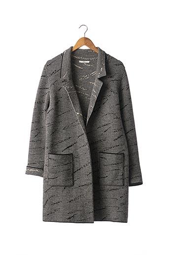Manteau long noir ANGE pour femme