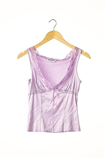 Top violet ANTI-FLIRT pour femme