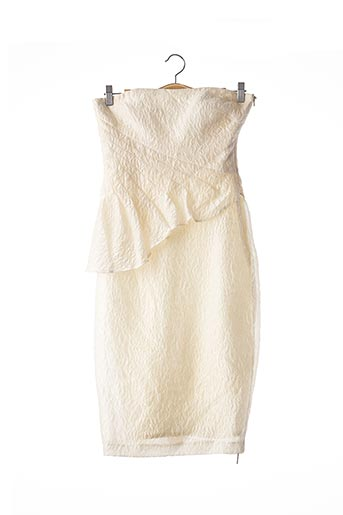 Robe mi-longue beige BADGLEY MISCHKA pour femme