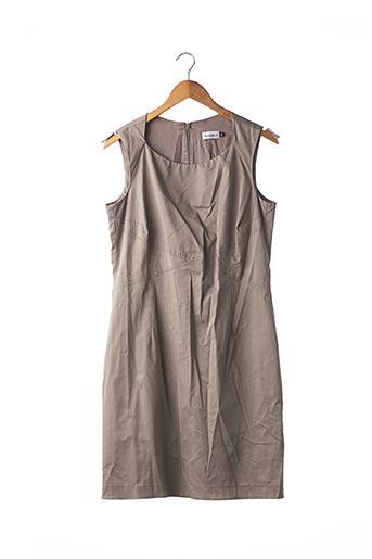 Robe mi-longue gris ANTONELLE pour femme
