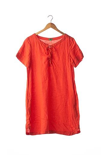 Robe mi-longue orange BENSIMON pour femme