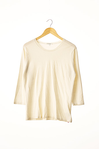 Pull col rond beige ERIC BOMPARD pour femme
