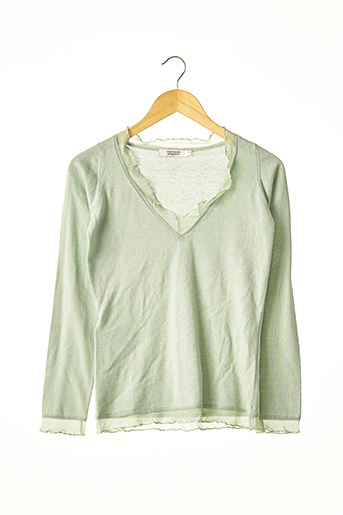 Pull col V vert COMPTOIR DES COTONNIERS pour femme