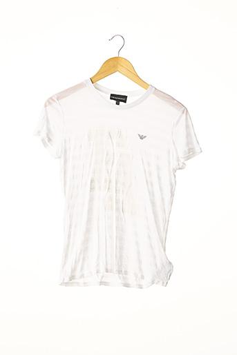 T-shirt manches courtes blanc ARMANI pour femme
